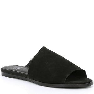 Eileen Fisher Rue Black Suede Slides NWOT